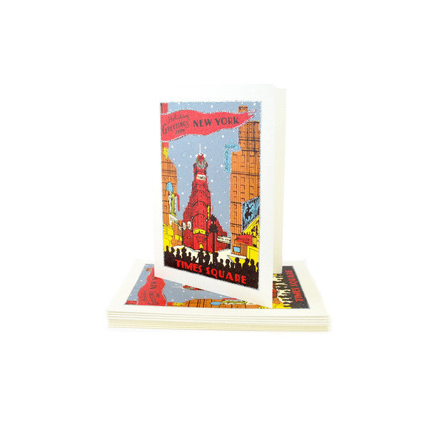 Times Square Holiday Card Set - The New York Public Library Shop
