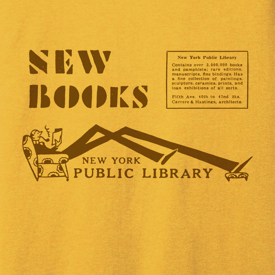 New Books: NYPL Vintage Inspired T-shirt - The New York Public Library Shop