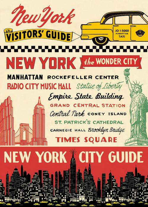 NYC Posters Set: Visitor's Guide & NYC Illustrated Map