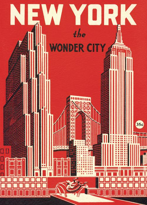 NYC Posters Set: Wonder City & NYC Map