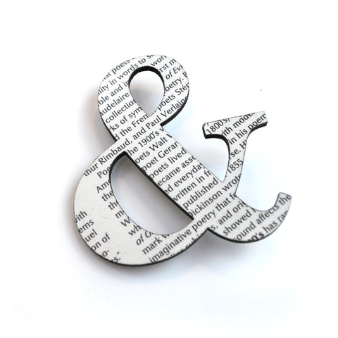 Wordy Ampersand Pin