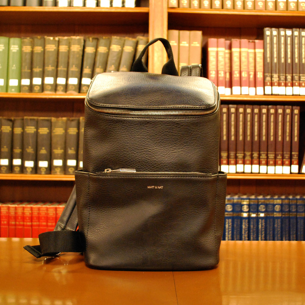 Black Zip Top Backpack - The New York Public Library Shop