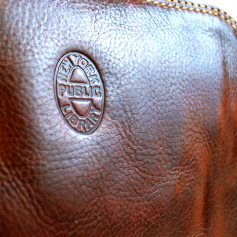 Close- Up of oval stamp in the front