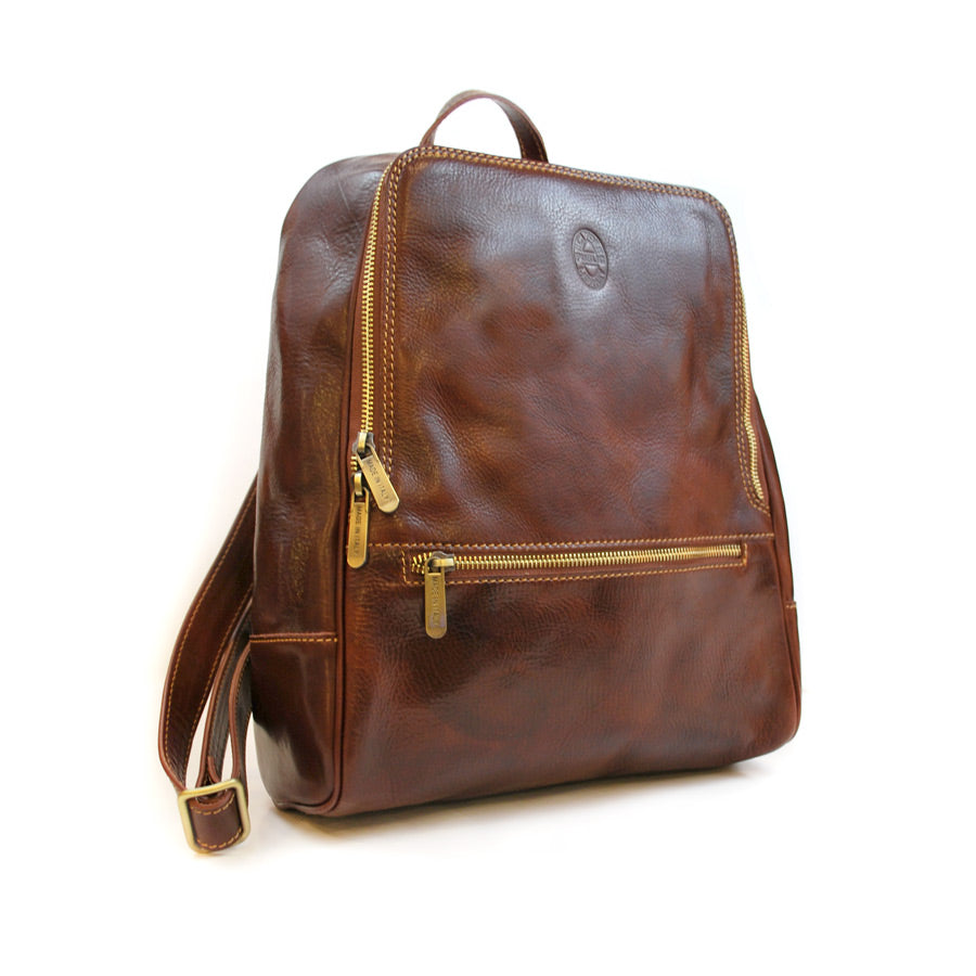 Leather NYPL Bookbinding Stamp Backpack - The New York Public Library Shop