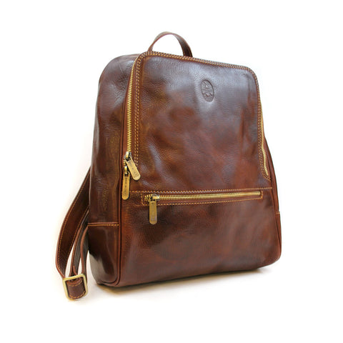 Leather NYPL Bookbinding Stamp Backpack