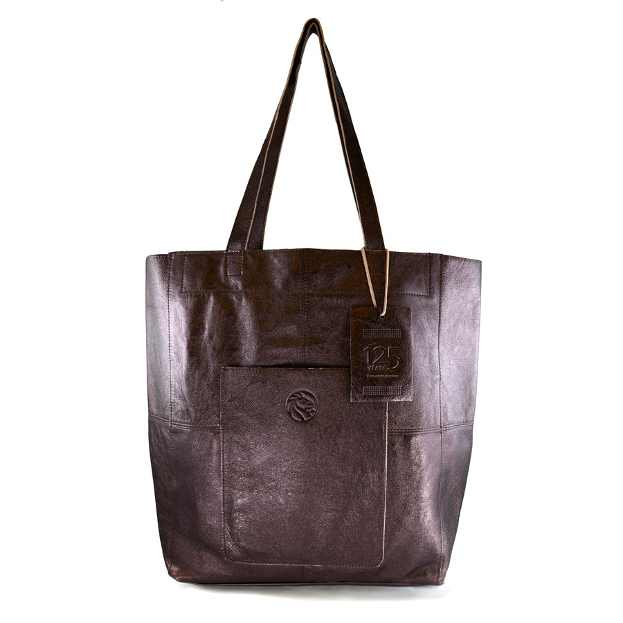 NYPL 125th Anniversary Leather Tote Bag - The New York Public Library Shop