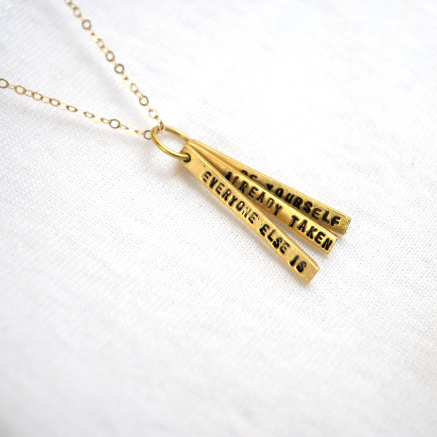 Oscar Wilde Quote Necklace - The New York Public Library Shop
