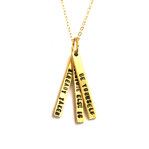 Oscar Wilde Quote Necklace