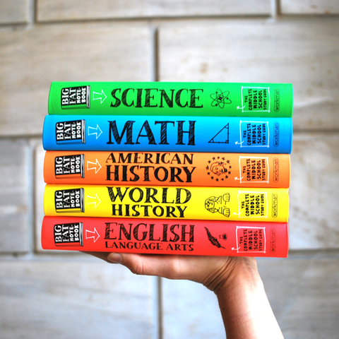 Everything You Need to Ace Math, English, Science, World History, and American History Book Set