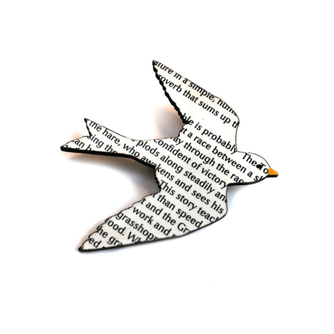 Wordy Bird Pin - The New York Public Library Shop