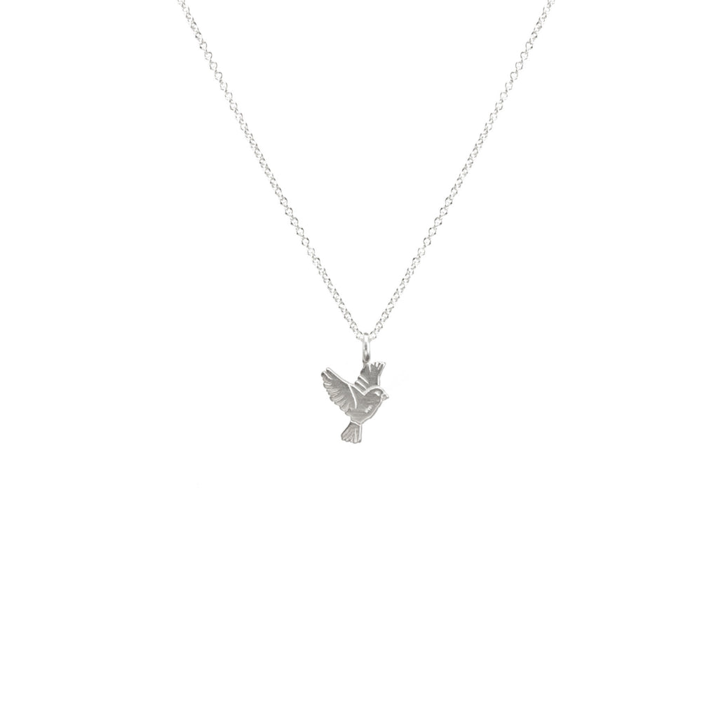 gift product mindfulness silver luck origami crane choker necklace travel good bird jewelry
