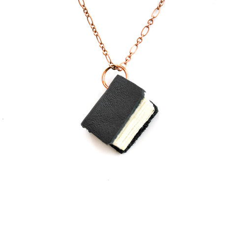 Black Leather Book Necklaces - The New York Public Library Shop