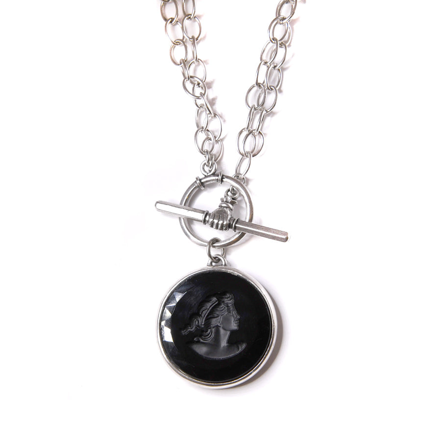 Jet Convertible Toggle Necklace - The New York Public Library Shop
