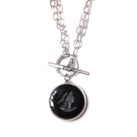 Jet Convertible Toggle Necklace