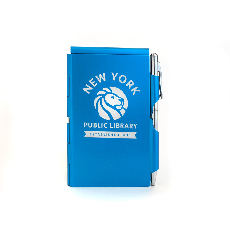 Blue NYPL Flipnotes / 3 Refill Pads Included - The New York Public Library Shop