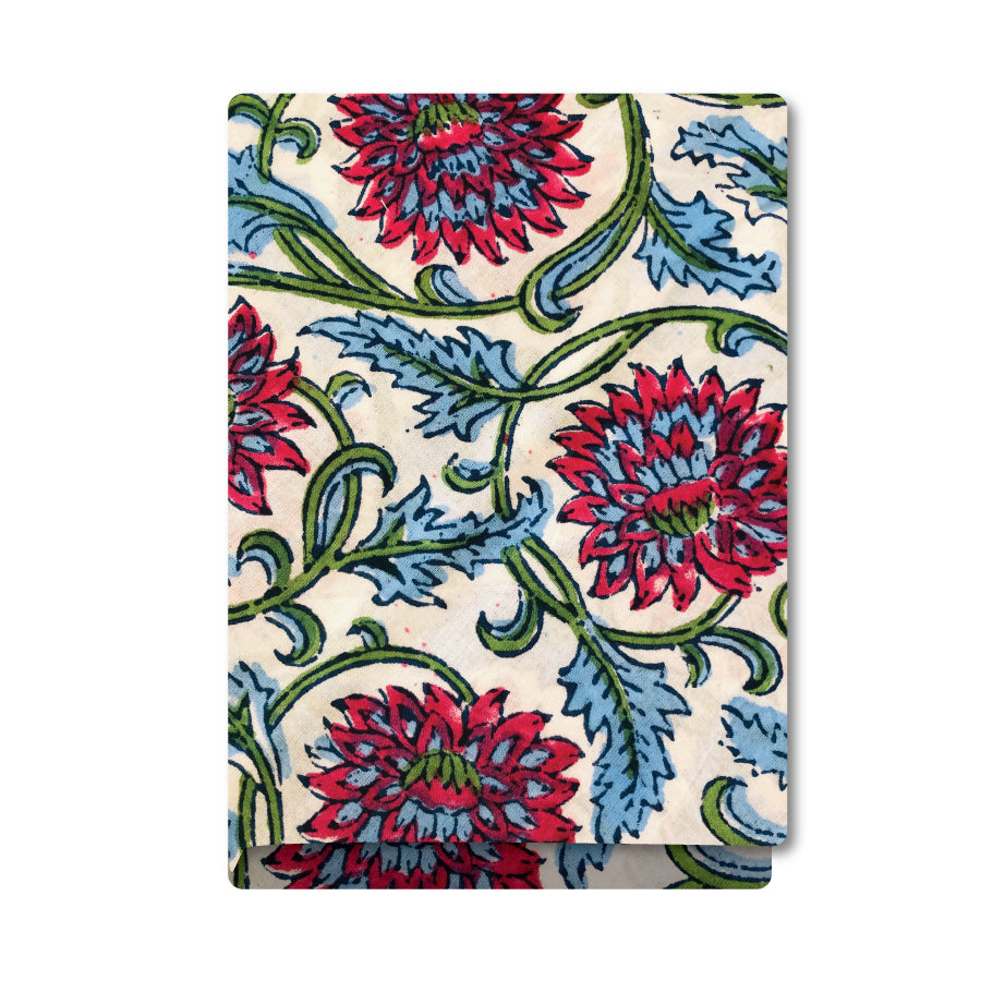 Blue & Red Flowers Bandana