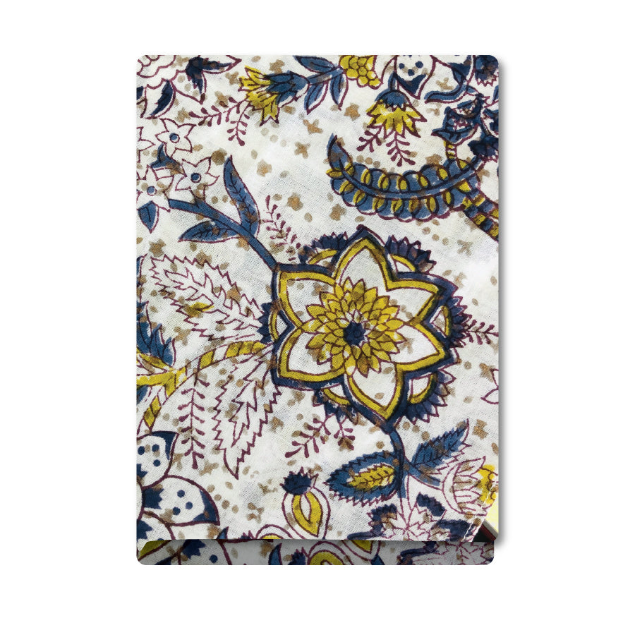 Blue & Gold Flowers Bandana