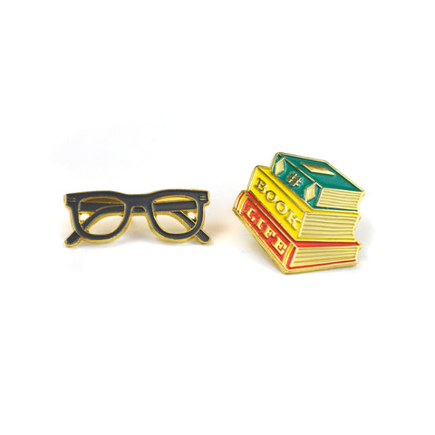 Book Buds Pin Set