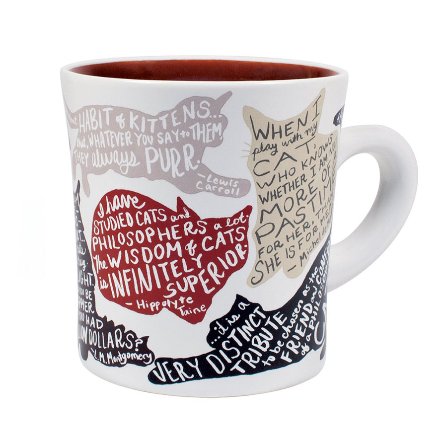 Literary Cat Mug - The New York Public Library Shop