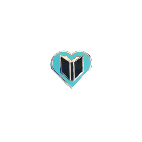 Book Love Enamel Book Pin
