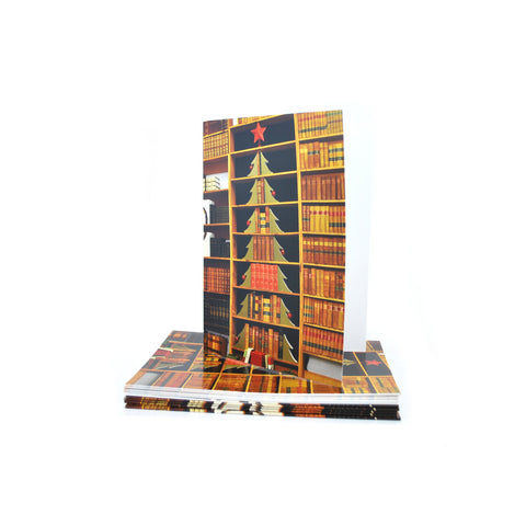 Christmas Tree Book Shelf Card Set