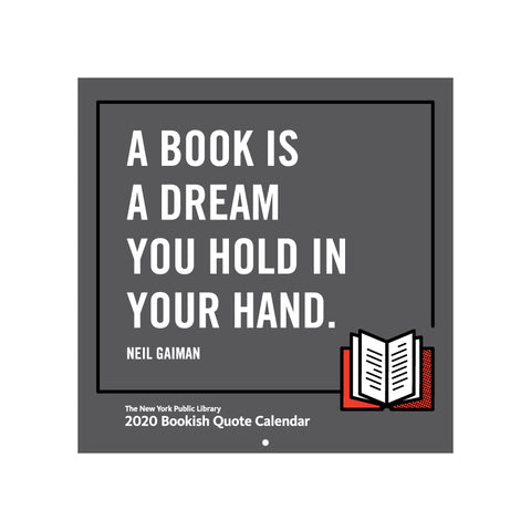 2020 Bookish Quote  Calendar