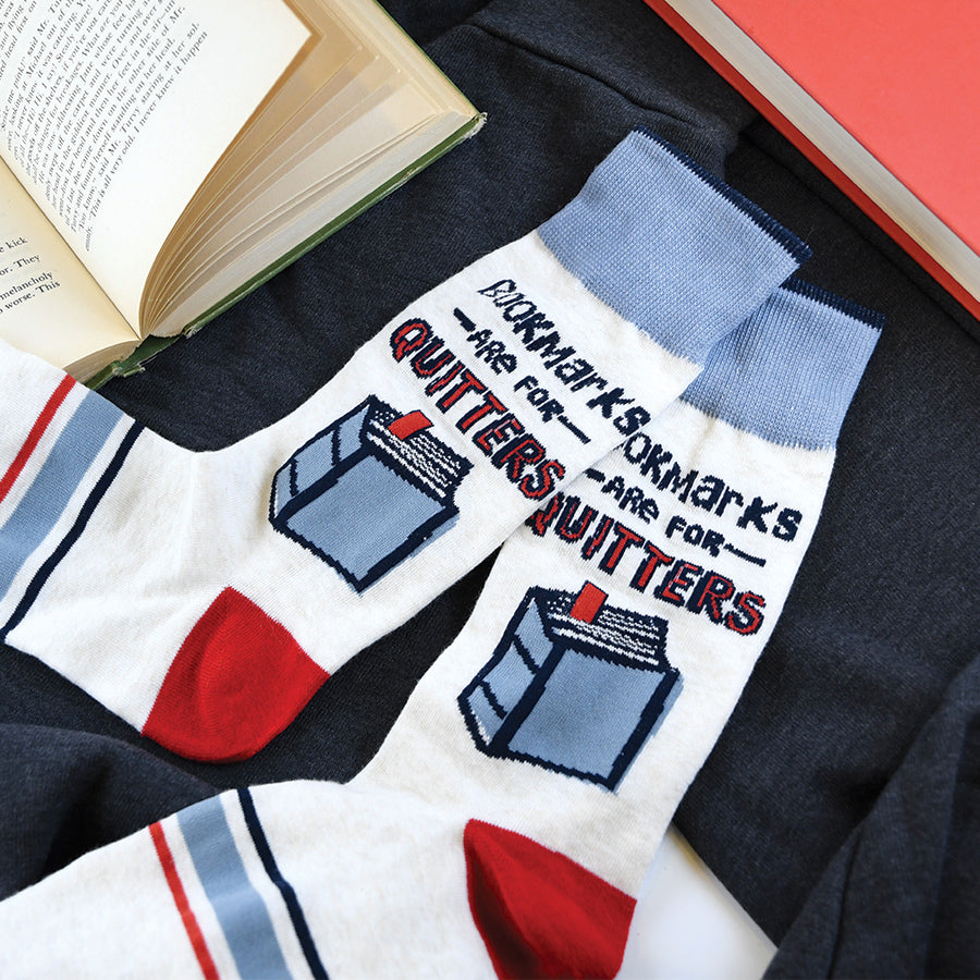 Bookmarks Are For Quitters Unisex Socks