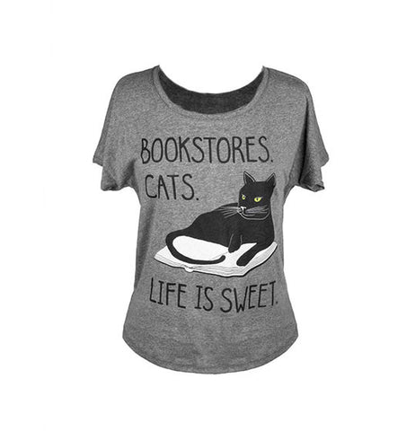 Bookstore Cats T-Shirt - The New York Public Library Shop