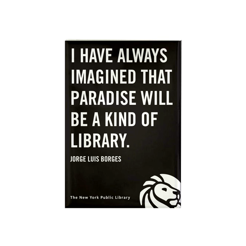 Jorge Luis Borges Magnet - The New York Public Library Shop
