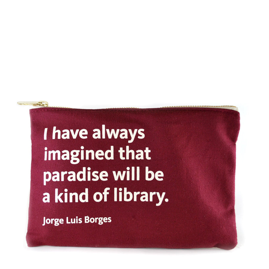 NYPL Jorge Luis Borges Pouch - The New York Public Library Shop