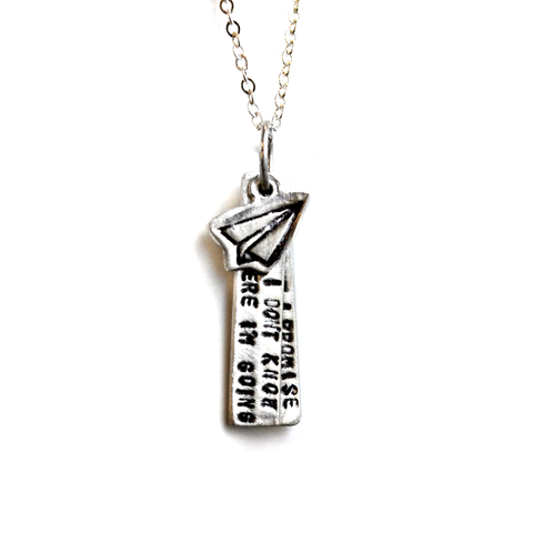 David Bowie Quote Necklace