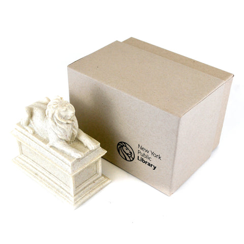 "packaging box includes text ""the New York public library"""