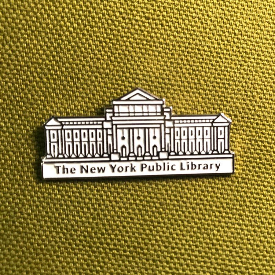 NYPL Library Building Enamel Pin - The New York Public Library Shop