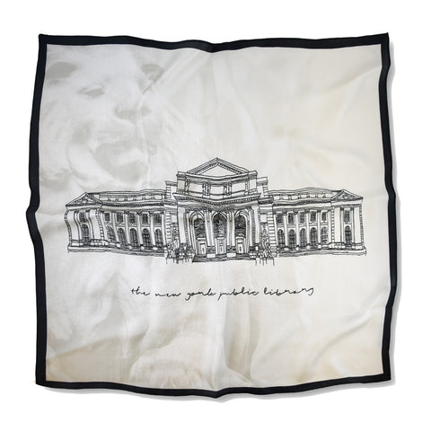 NYPL Building Silk Neckerchief
