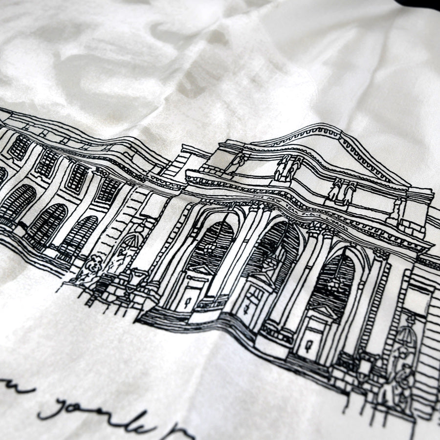 NYPL Building Silk Neckerchief - The New York Public Library Shop