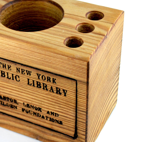 Small NYPL Library Stamp Desk Caddy