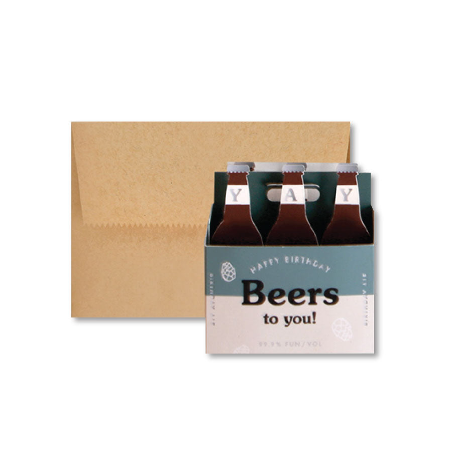Beers To You Pop-Up Notecard