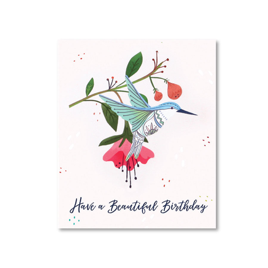 Hummingbird Birthday Pop-Up Notecard