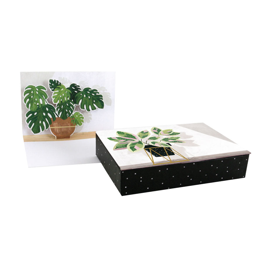 Potted Plants Pop-Up Notecard Set