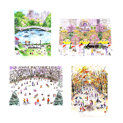 Four Seasons in NYC Boxed Card Set - The New York Public Library Shop