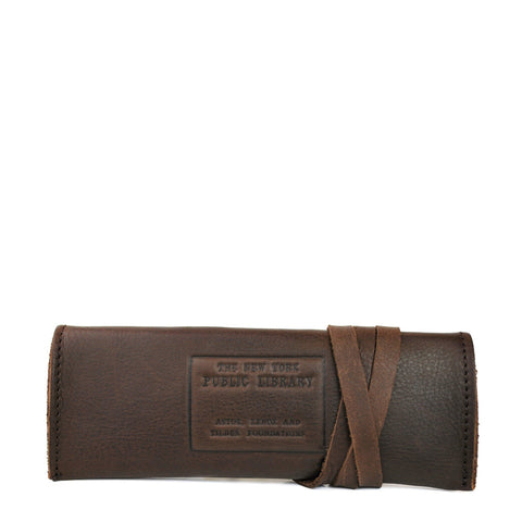 Leather NYPL Stamp Case