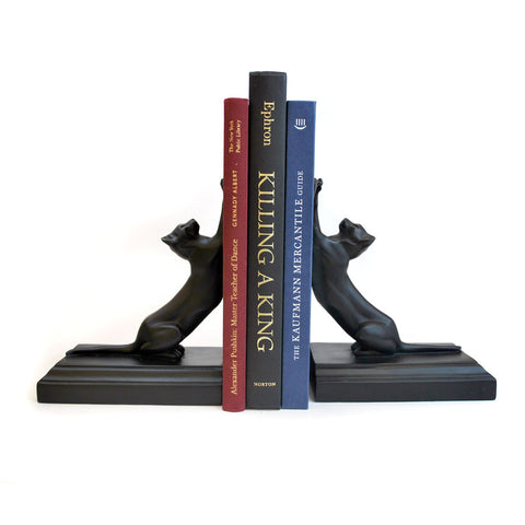 Stretching Cat Bookends