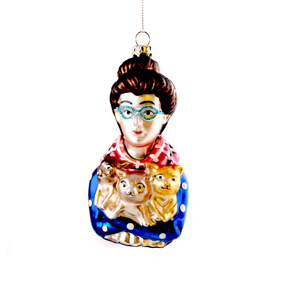 Cat Lady Ornament - The New York Public Library Shop