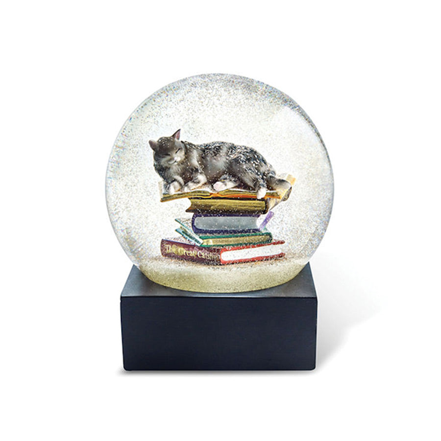 Cats on Stacks Snow Globe - The New York Public Library Shop
