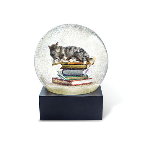 Cats on Stacks Snow Globe
