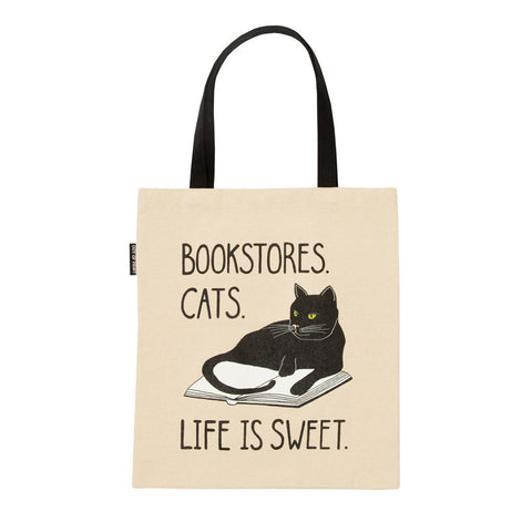 Bookstore Cats Tote Bag - The New York Public Library Shop