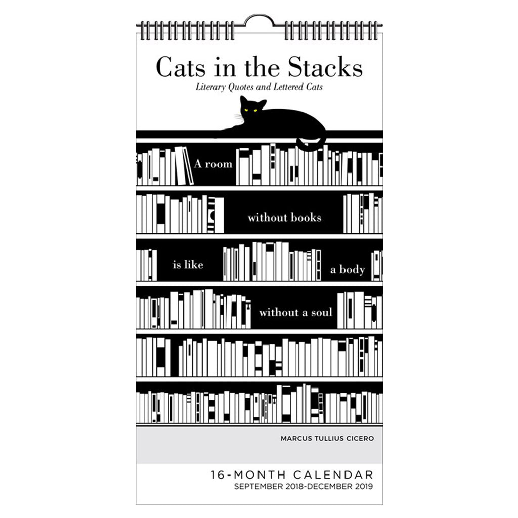 Cats in the Stacks 16 Month 2018-2019 Calendar - The New York Public Library Shop