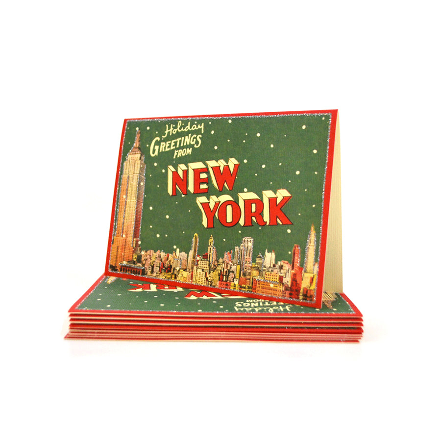 New York Holiday Greetings Card Set