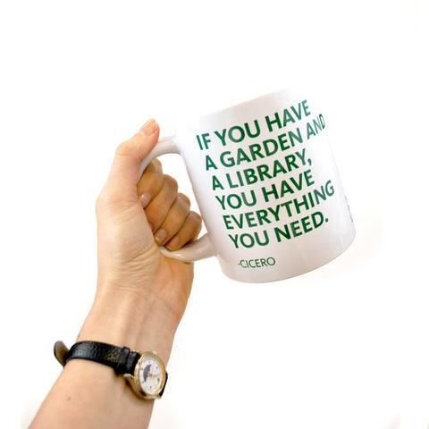 Jumbo NYPL Cicero Quote Mug - The New York Public Library Shop