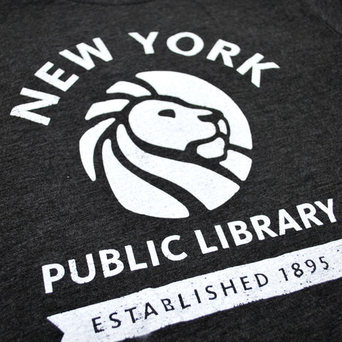 Grey NYPL 1895 T-shirt - The New York Public Library Shop